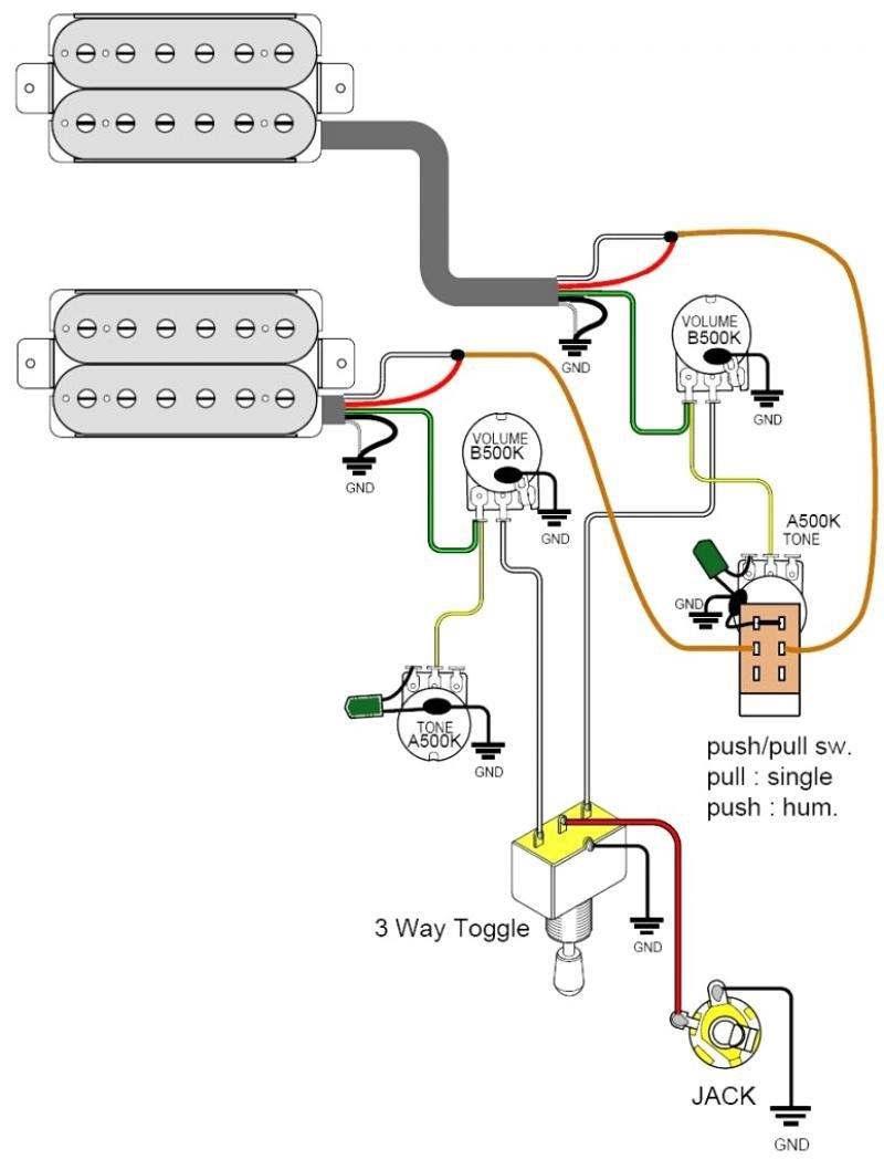 Les Paul Split Coil Wiring Diagram | Manual E-Books - Coil Tap Wiring Diagram Push Pull