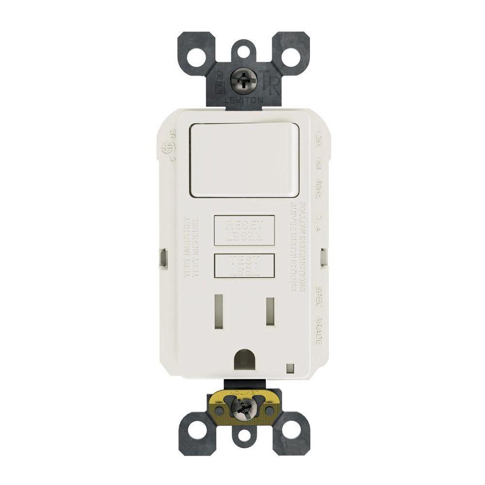 Leviton 15 Amp 125-Volt Combo Self-Test Tamper-Resistant Gfci Outlet - Leviton Combination Switch And Tamper Resistant Outlet Wiring Diagram