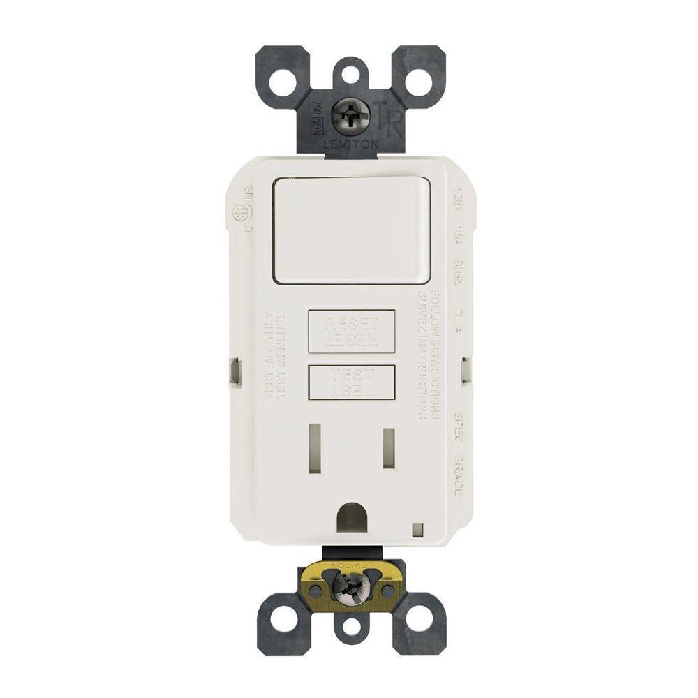 Leviton 15 Amp 125-Volt Combo Self-Test Tamper-Resistant Gfci Outlet - Leviton Switch Outlet Combination Wiring Diagram