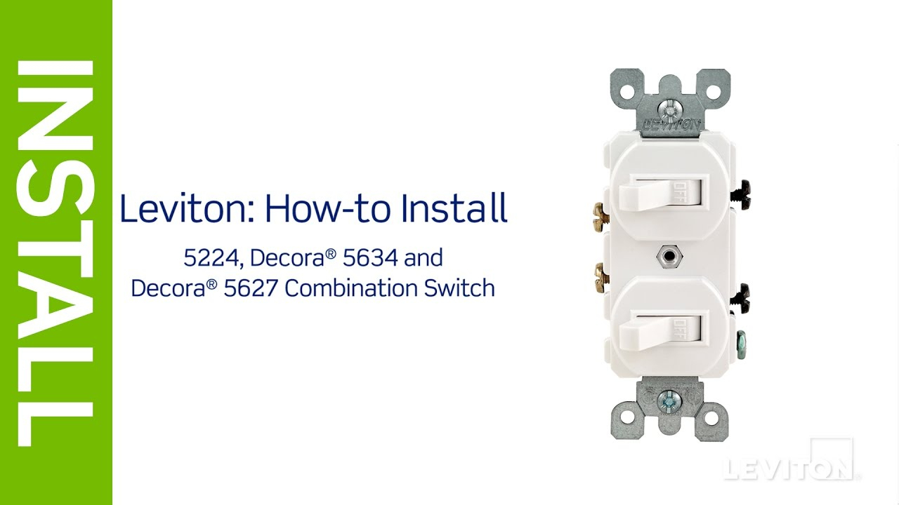 Leviton Presents: How To Install A Combination Device With Two - Leviton Double Pole Switch Wiring Diagram