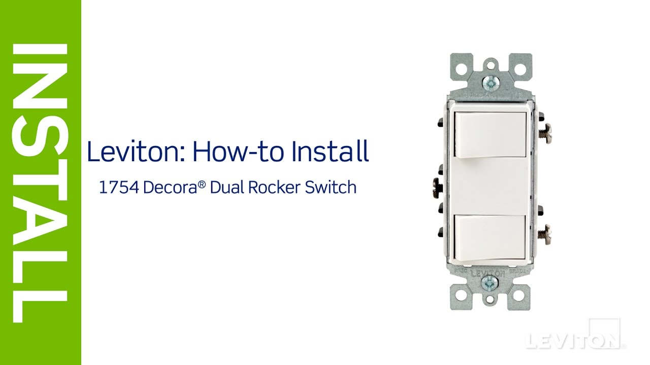 Leviton Presents: How To Install A Decora Combination Device With - Double Switch Wiring Diagram