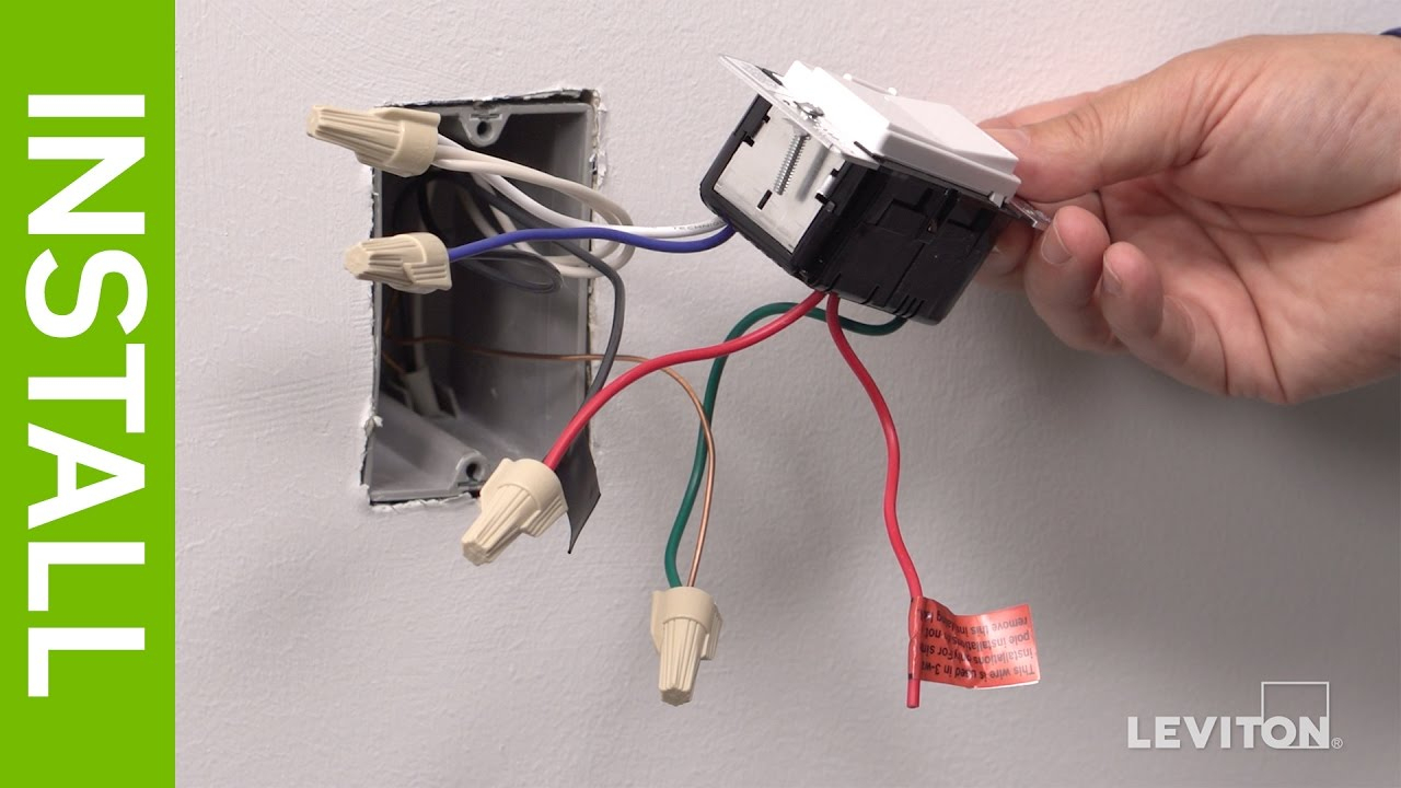 Leviton Presents: How To Install A Decora Digital Dse06 Low Voltage - Leviton 3 Way Dimmer Switch Wiring Diagram