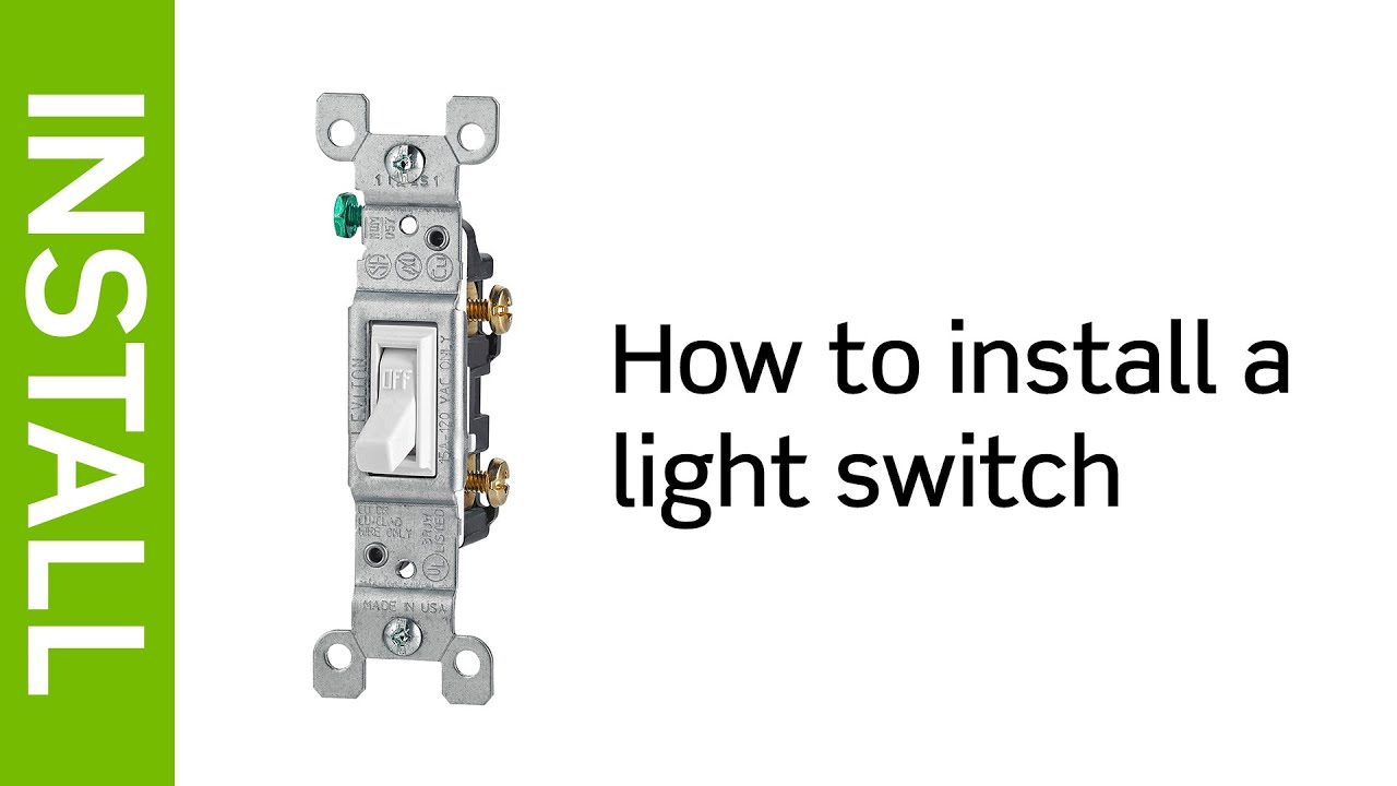 Leviton Presents: How To Install A Light Switch - Youtube - Leviton Switch Wiring Diagram