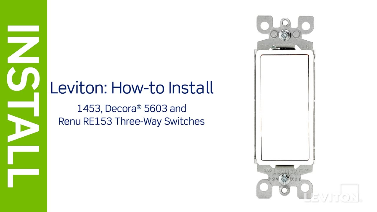 Leviton Presents: How To Install A Three-Way Switch - Youtube - Leviton Switch Wiring Diagram