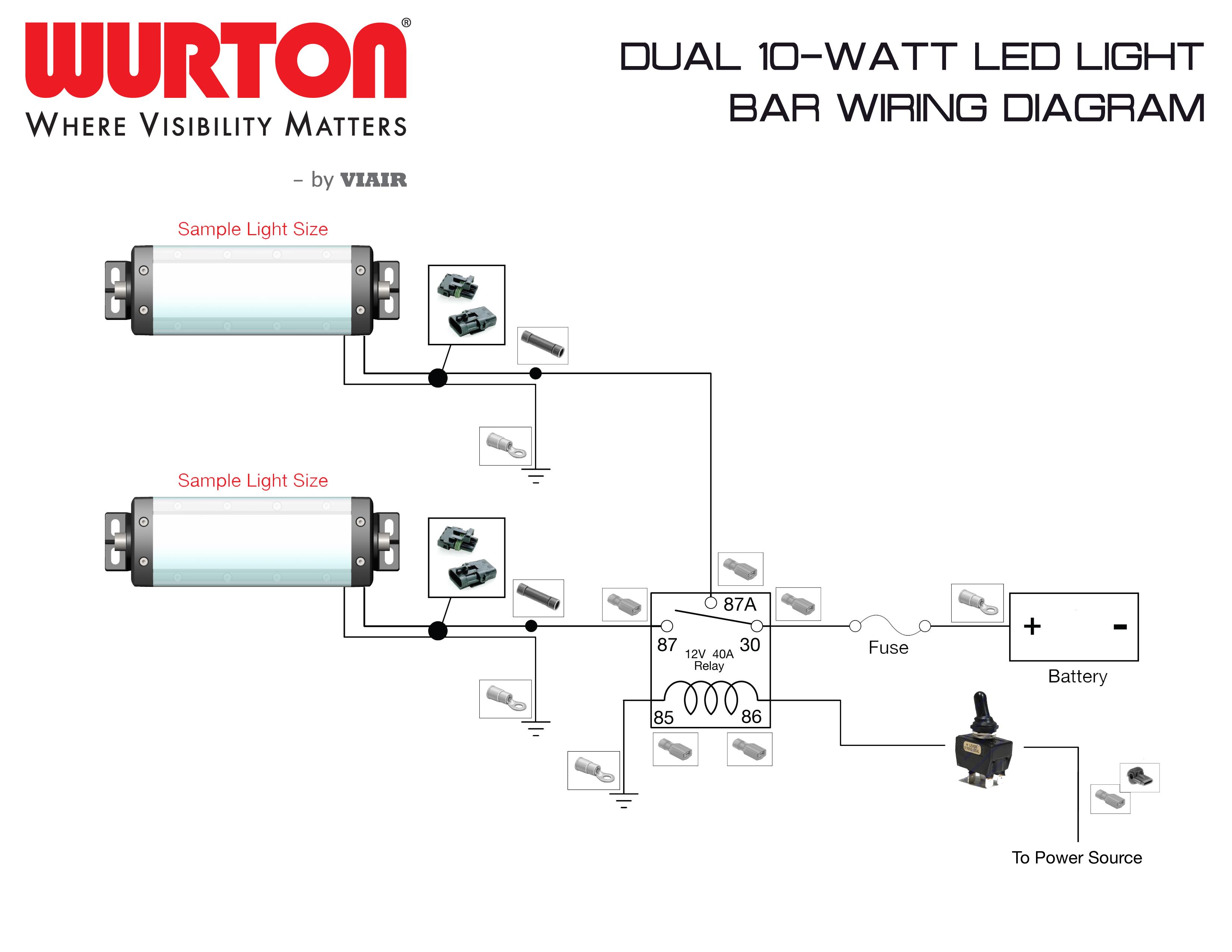 Light Bar Wire Diagram | Manual E-Books - Led Light Bar Wiring Harness Diagram