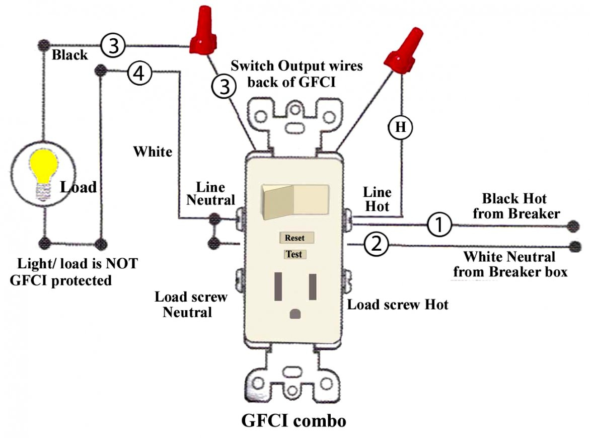 Light Switch Schematic Combo Wiring | Wiring Diagram - Gfci Outlet Wiring Diagram