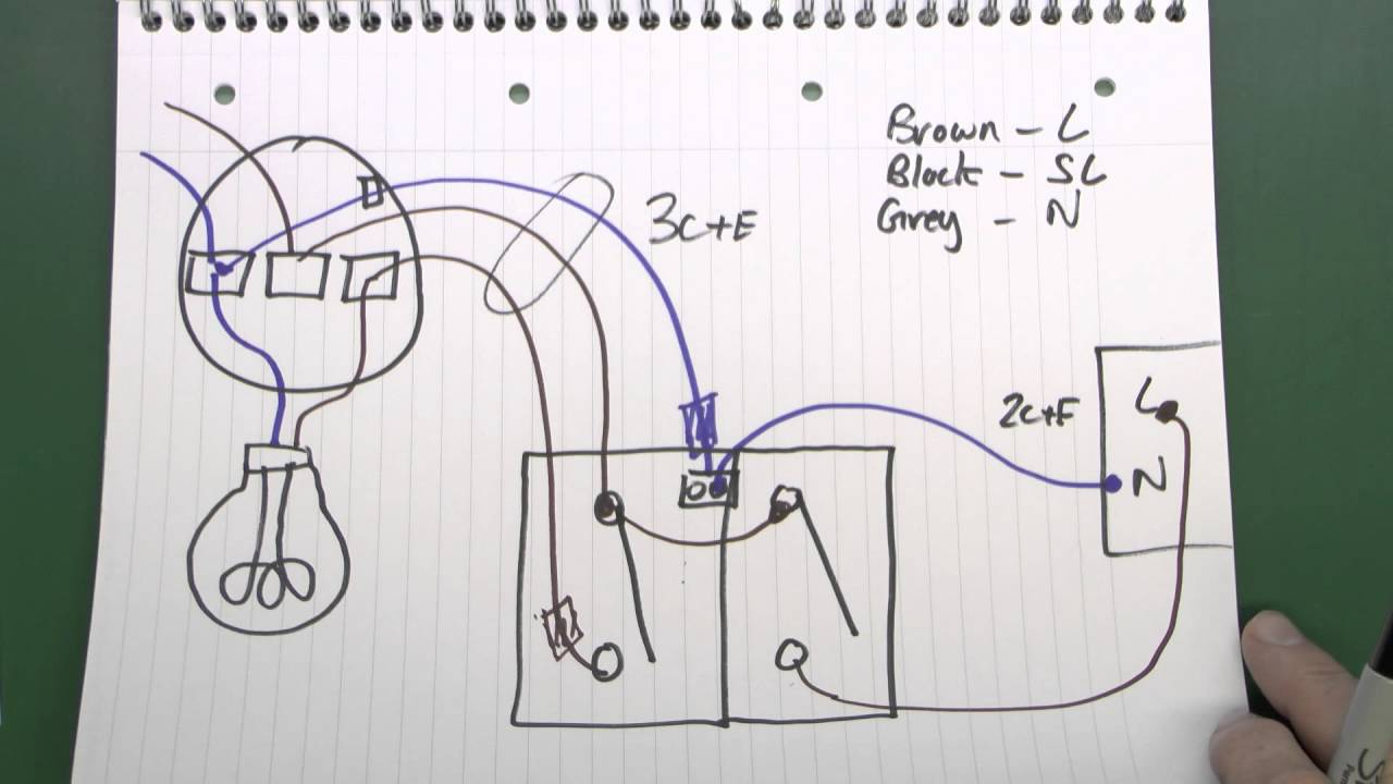 Lighting Circuits Part 3 - Fans, Motion Sensor Lights, 3 Core - Wiring A Motion Sensor Light Diagram
