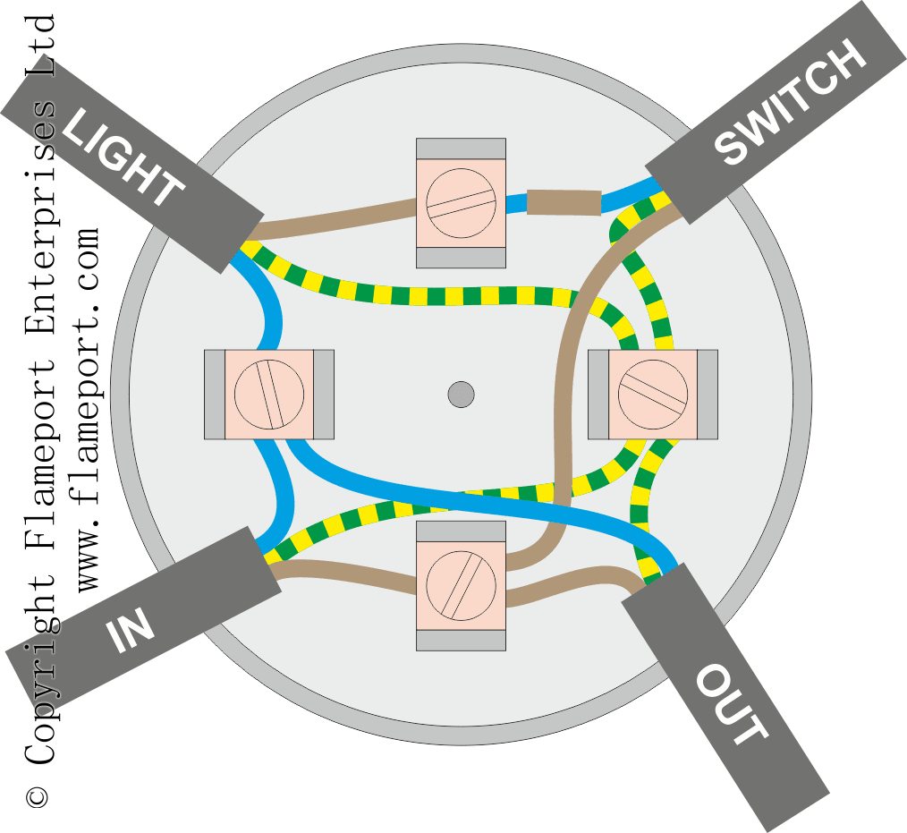 Lighting Circuits Using Junction Boxes - Light Wiring Diagram