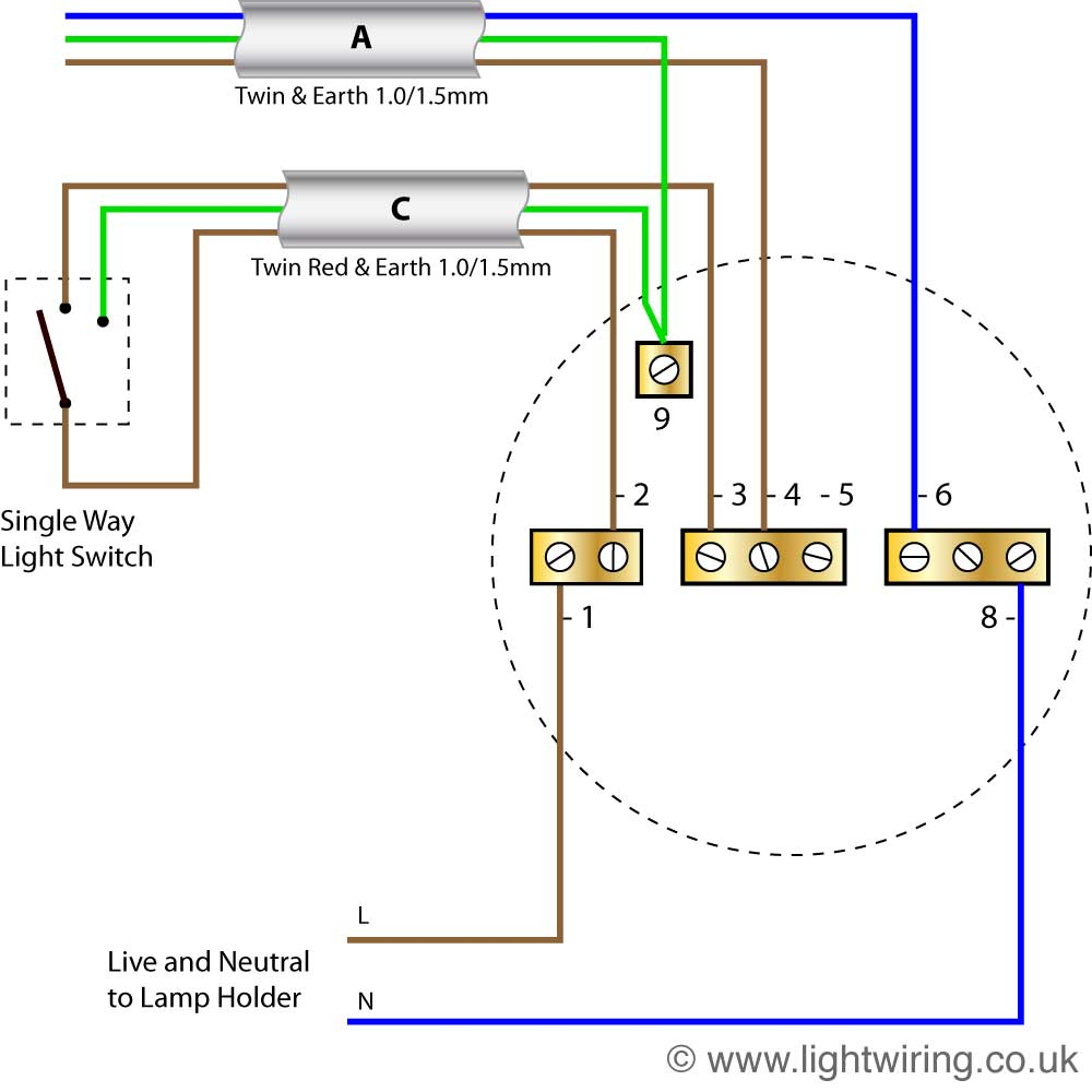 Lighting Wiring Diagram | Light Wiring - Lamp Wiring Diagram