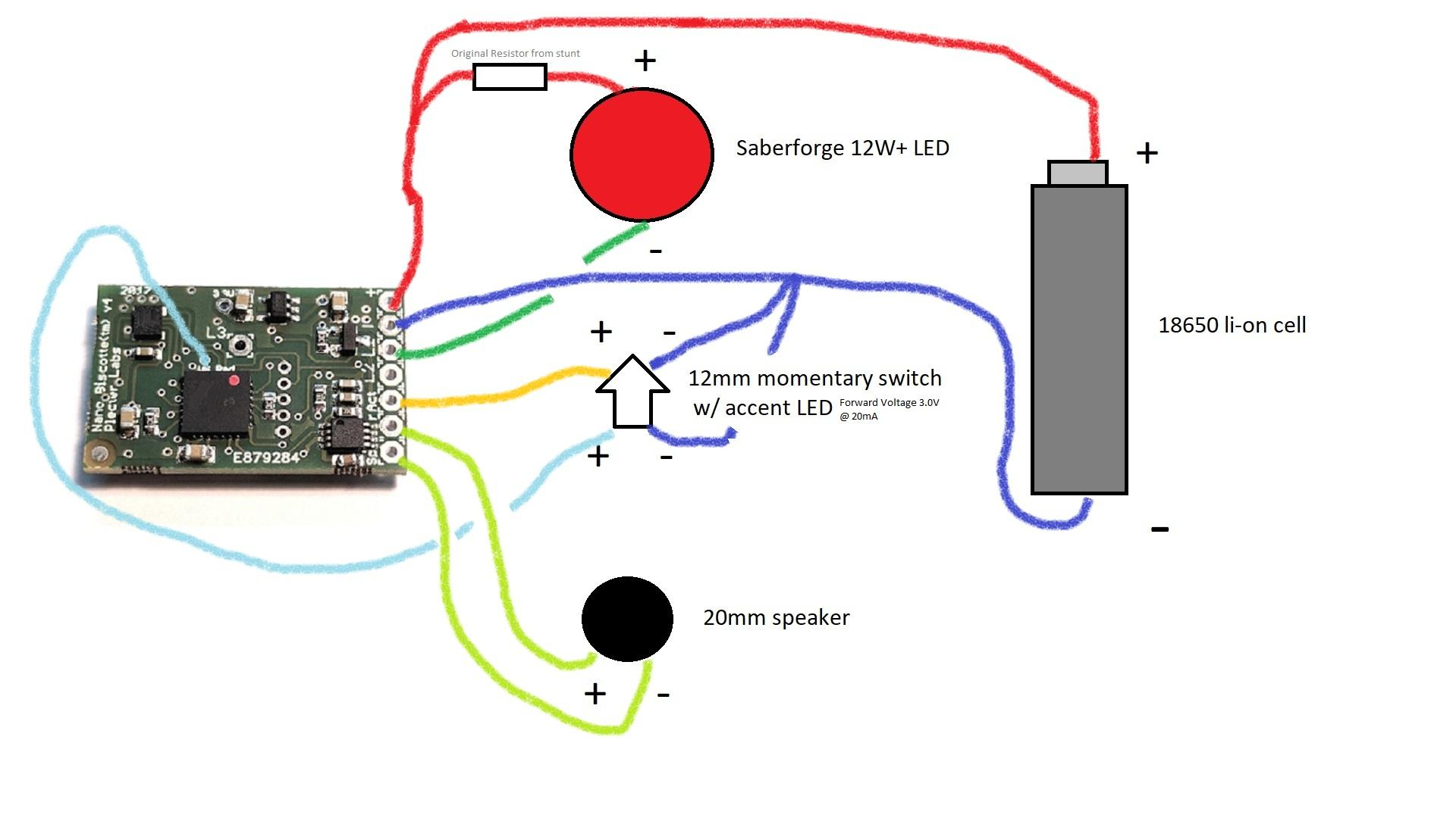 Lightsaber Battery Wiring Diagram | Wiring Library - Nano Biscotte V4 Wiring Diagram