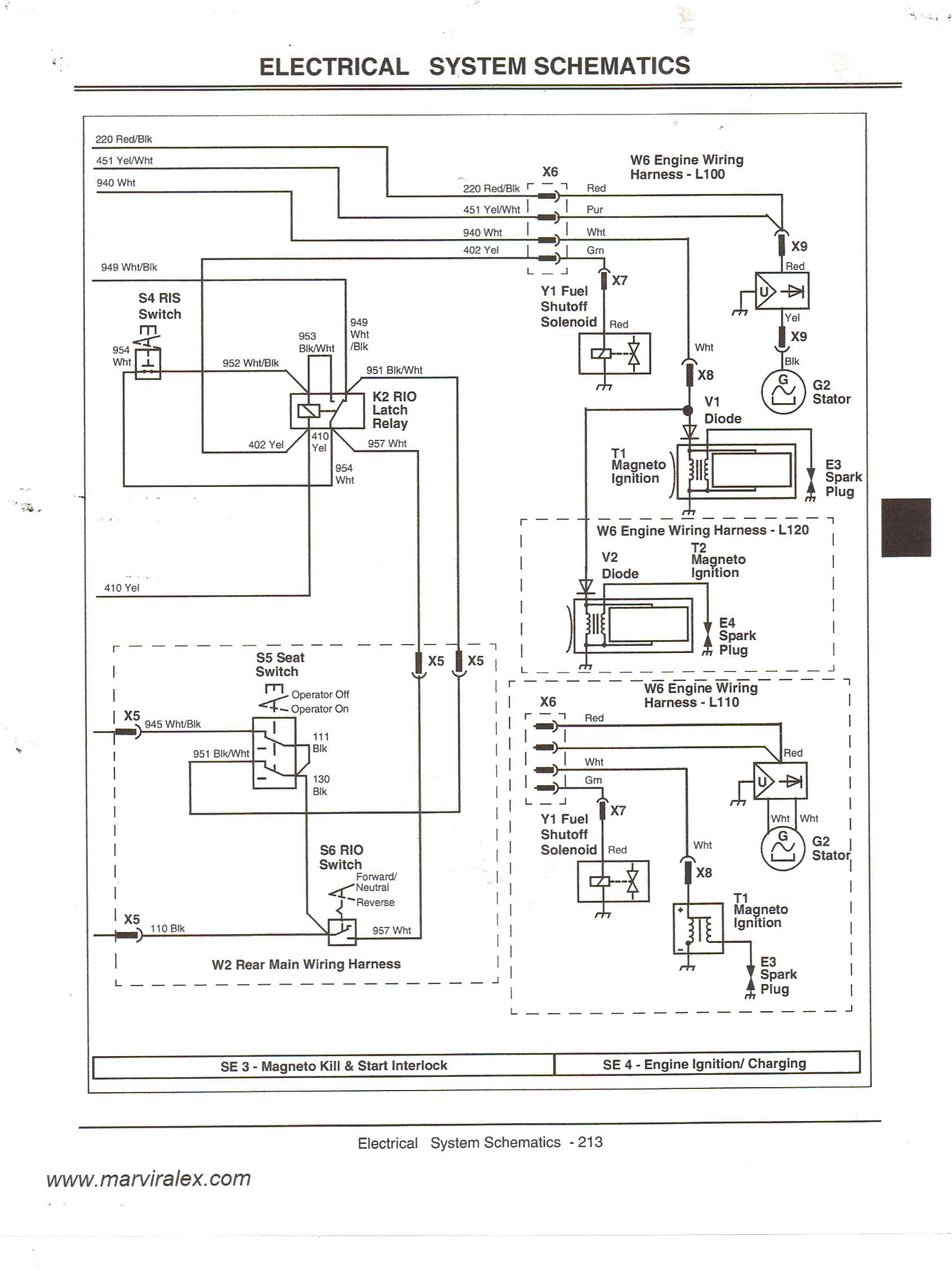Lt155 Wiring Schematic   Manual E-Books - John Deere Lt155 Wiring Diagram