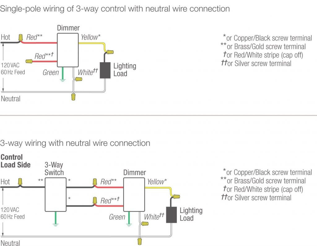 Lutron 3 Way Wiring Diagram | Manual E-Books - Lutron 3 Way Switch Wiring Diagram