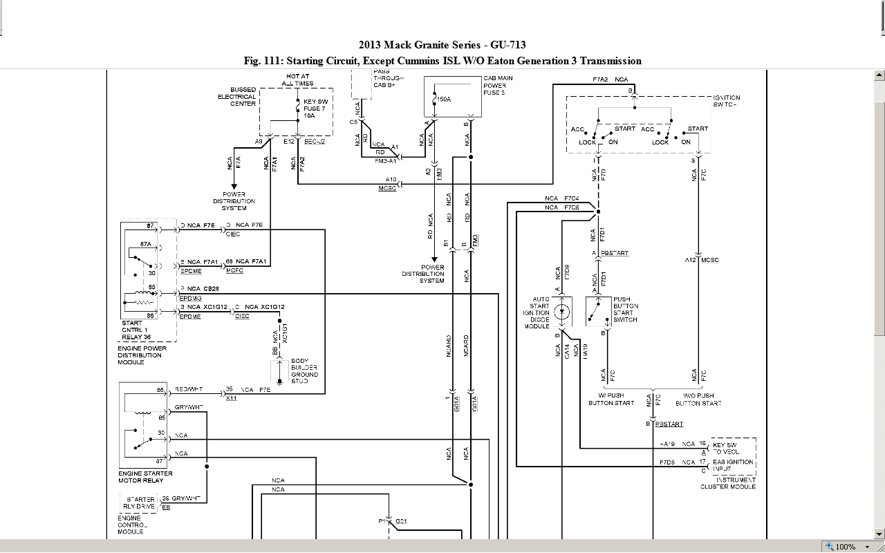 Mack Starter Wiring - All Wiring Diagram Data - Mack Truck Wiring Diagram Free Download