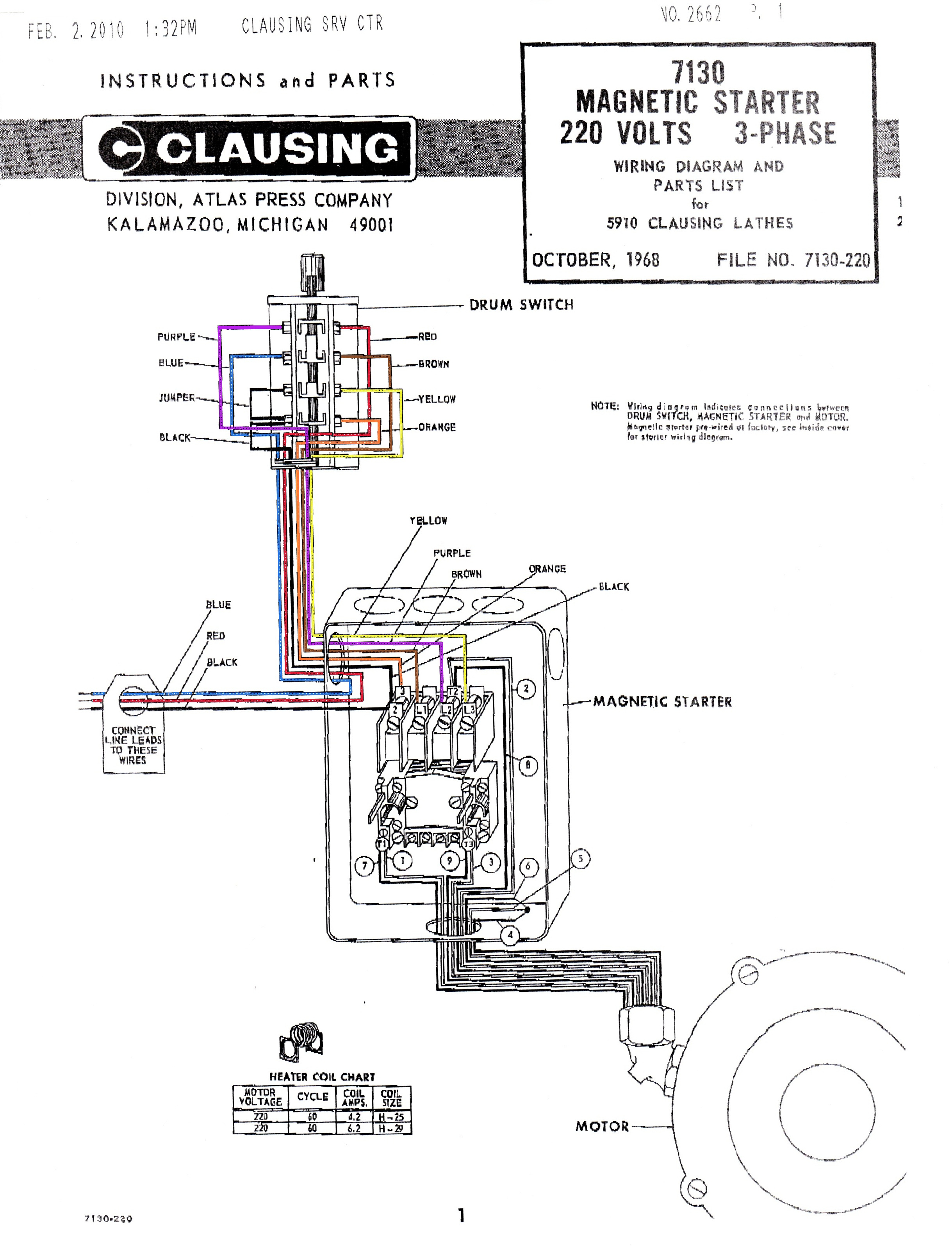 Magnetic Starter Wiring Diagram For 220 | Wiring Diagram - 3 Phase Motor Starter Wiring Diagram