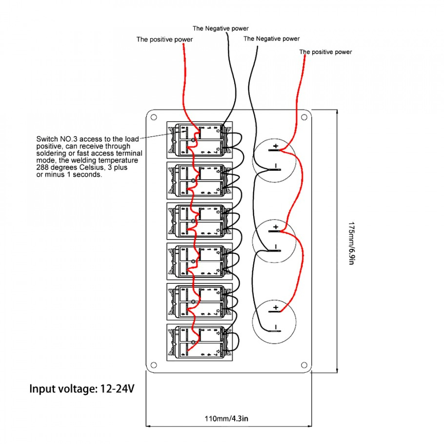 Marine Rocker Switch Wiring Diagram | Manual E-Books - Boat Switch Panel Wiring Diagram