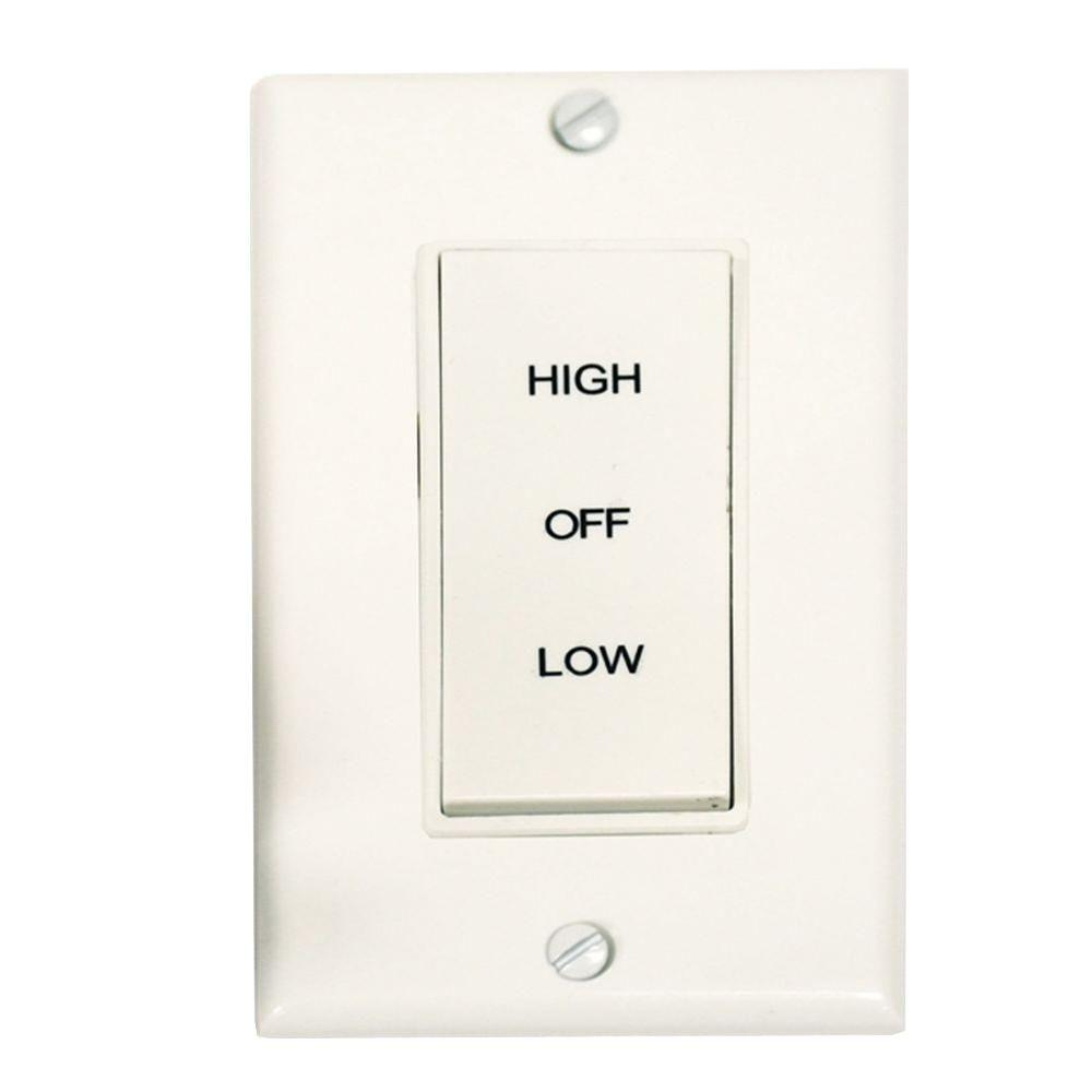Master Flow 2 Speed Wholehouse Fan Control Switch-Bws2 - The Home Depot - 2 Speed Whole House Fan Switch Wiring Diagram
