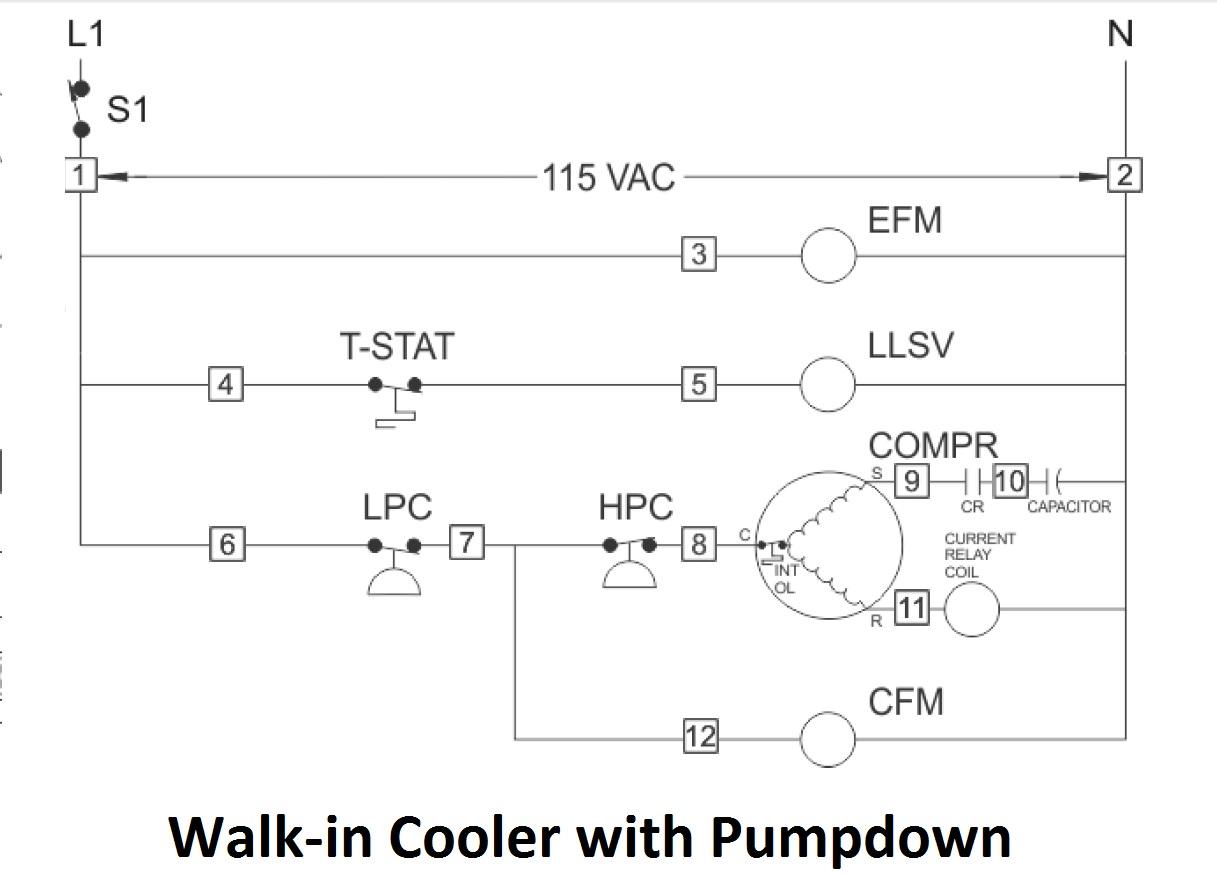 Mechanical & Marine Systems Engineering: Walk-In Cooler Wiring - Walk In Freezer Wiring Diagram