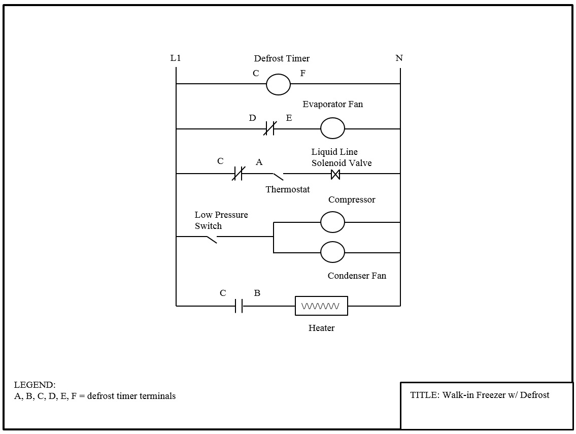 Walk In Freezer Wiring Diagram