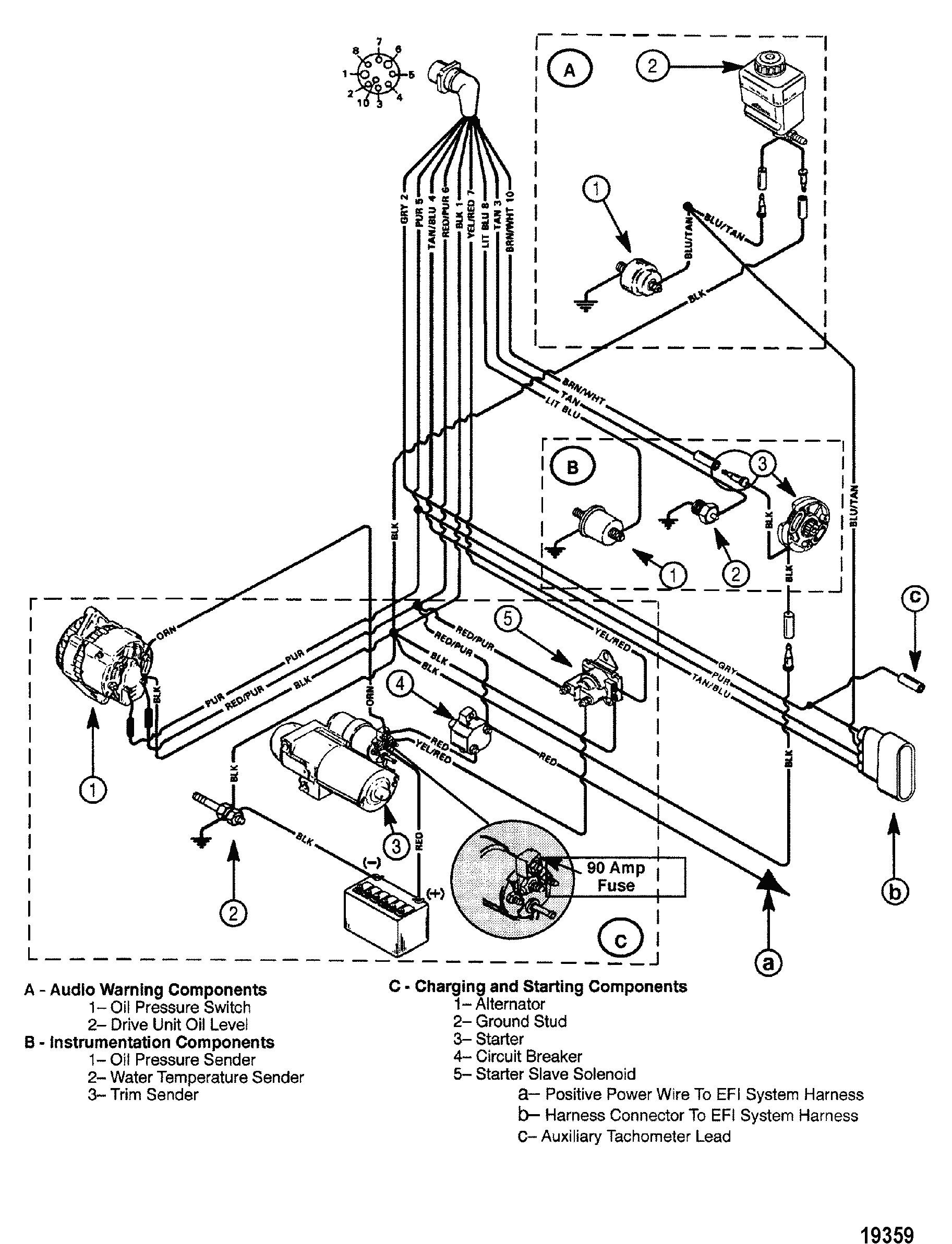 Mercruiser 4 3Lx Tachometer Wiring | Wiring Library - Mercruiser 4.3 Wiring Diagram