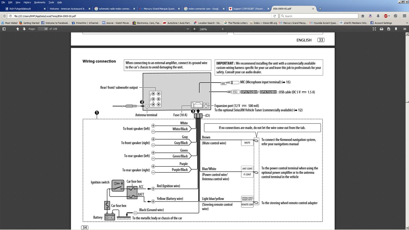 Mercury Grand Marquis Questions - Help With Stereo Wiring - Cargurus - 2007 Tahoe Radio Wiring Diagram