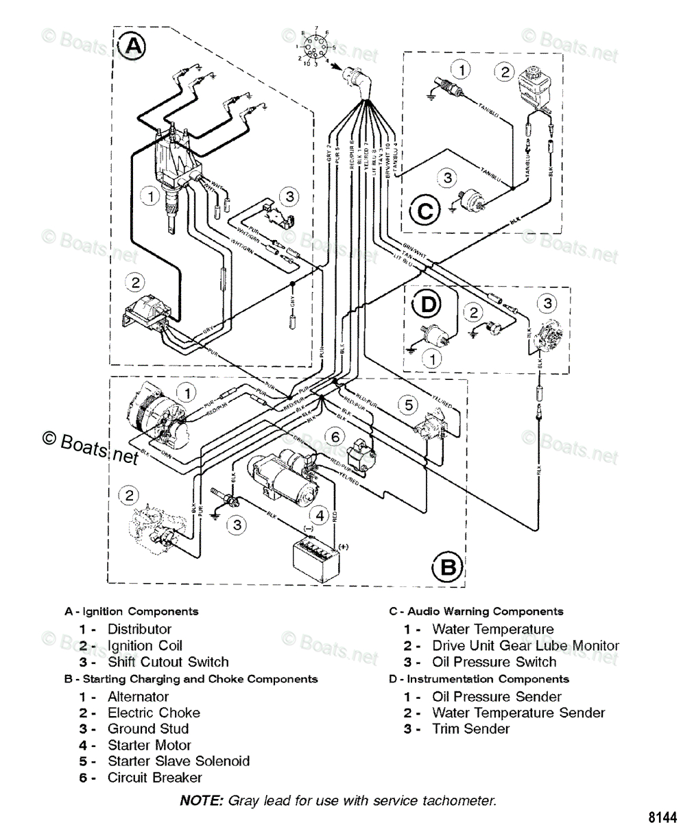 Mercury Mercruiser Sterndrive Partsyear Mercruiser Oem Parts - Mercruiser 3.0 Wiring Diagram