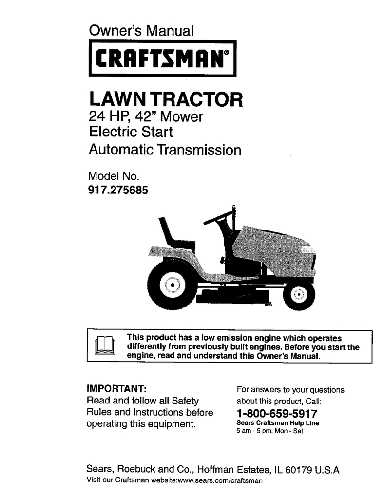 Model Wiring Craftsman Diagram Tractor 917272674 - All Wiring - Craftsman Model 917 Wiring Diagram