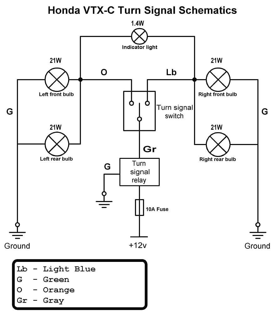 Motorcycle Turn Signal Wiring Diagram Tamahuproject Org At Universal - Turn Signal Wiring Diagram