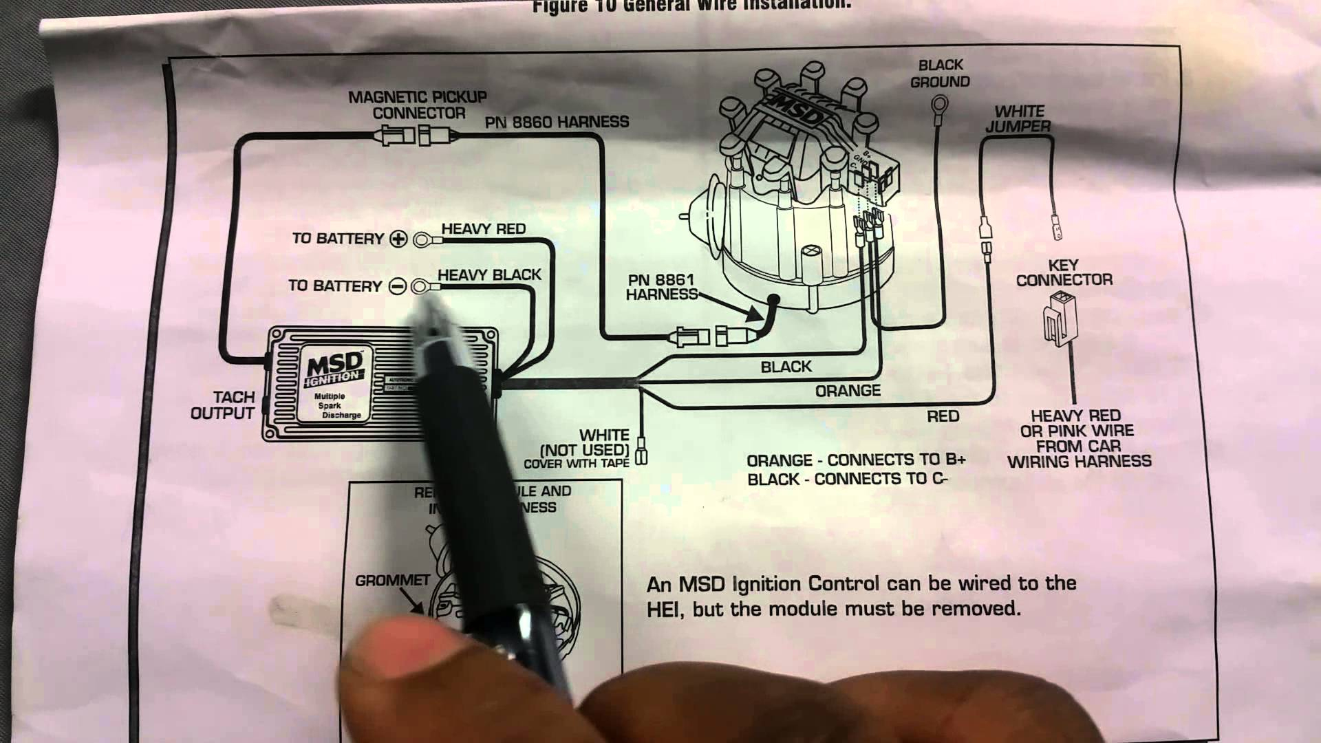 Msd Hei Wiring Diagram Diagrams Schematics Distributor Box Install - Hei Wiring Diagram