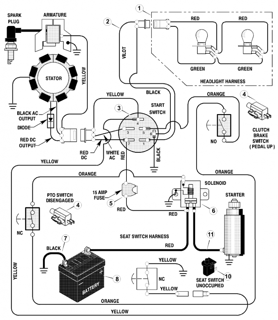 Mtd Mower Ignition Switch Wiring Diagram | Manual E-Books - Mtd Ignition Switch Wiring Diagram