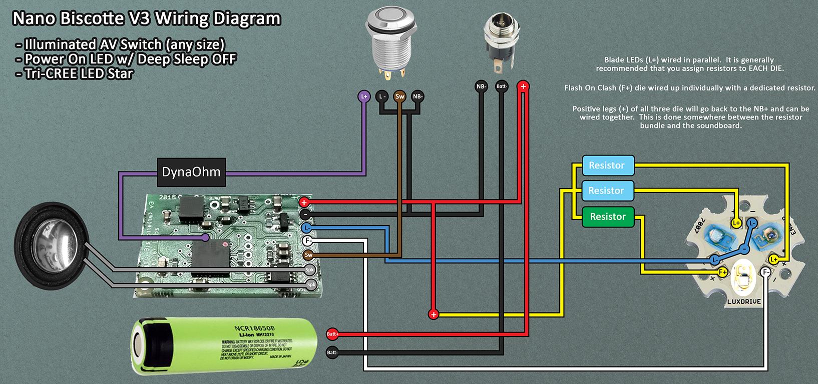 Nano Biscotte V3 Wiring Example - Nano Biscotte V4 Wiring Diagram