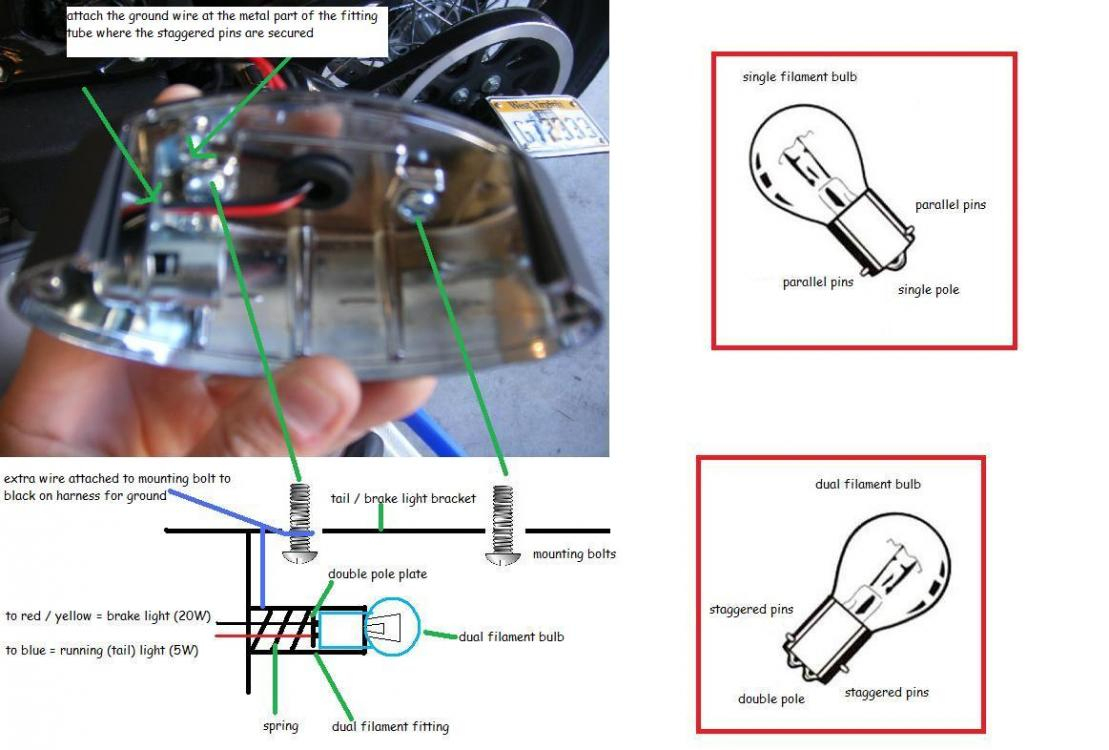 Need Help Wiring Tail Light - Harley Davidson Forums - Led Tail Lights Wiring Diagram