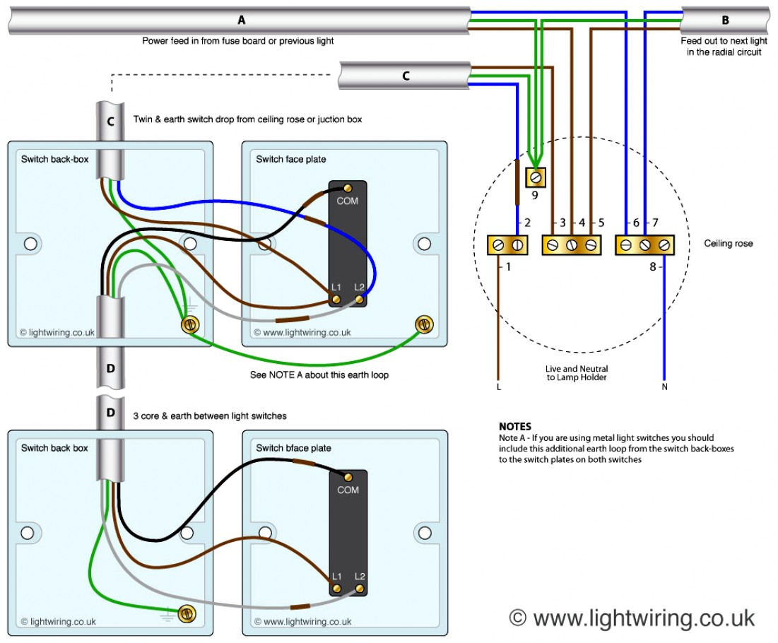 New 2 Way Switch Diagram Wiring Wire Lights Library - Wiring A Light Switch Diagram