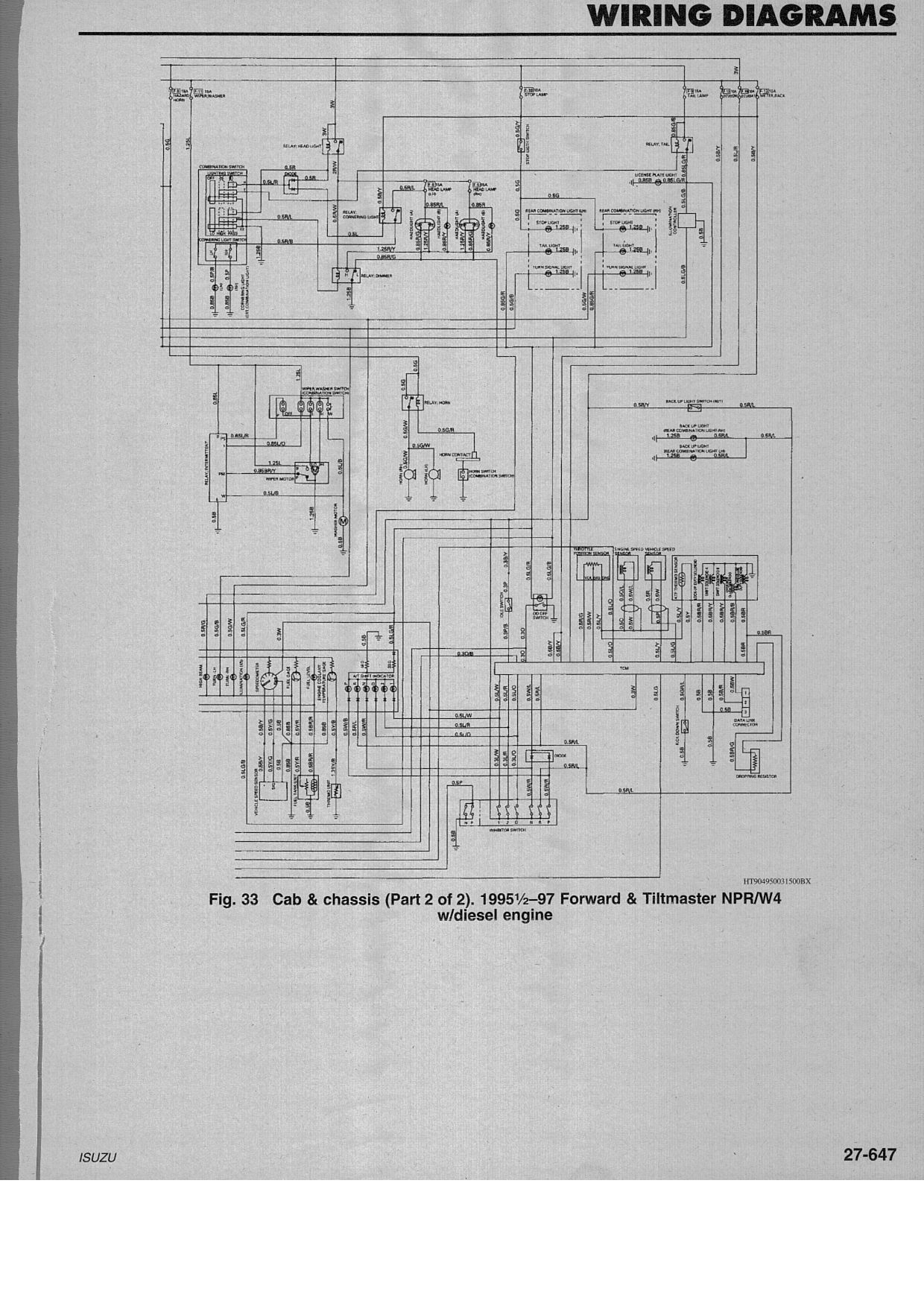 Npr Wiring Diagram | Manual E-Books - 2006 Isuzu Npr Wiring Diagram