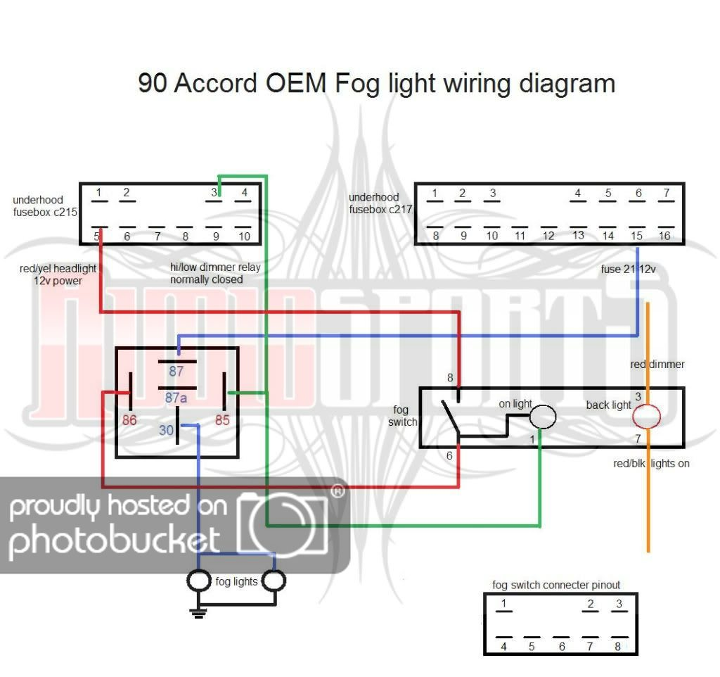Oem Fog Light Wiring Diagram - Cb7tuner Forums