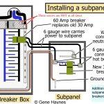 Off Main Sub Panel Wiring Diagram | Wiring Diagram   60 Amp Sub Panel Wiring Diagram