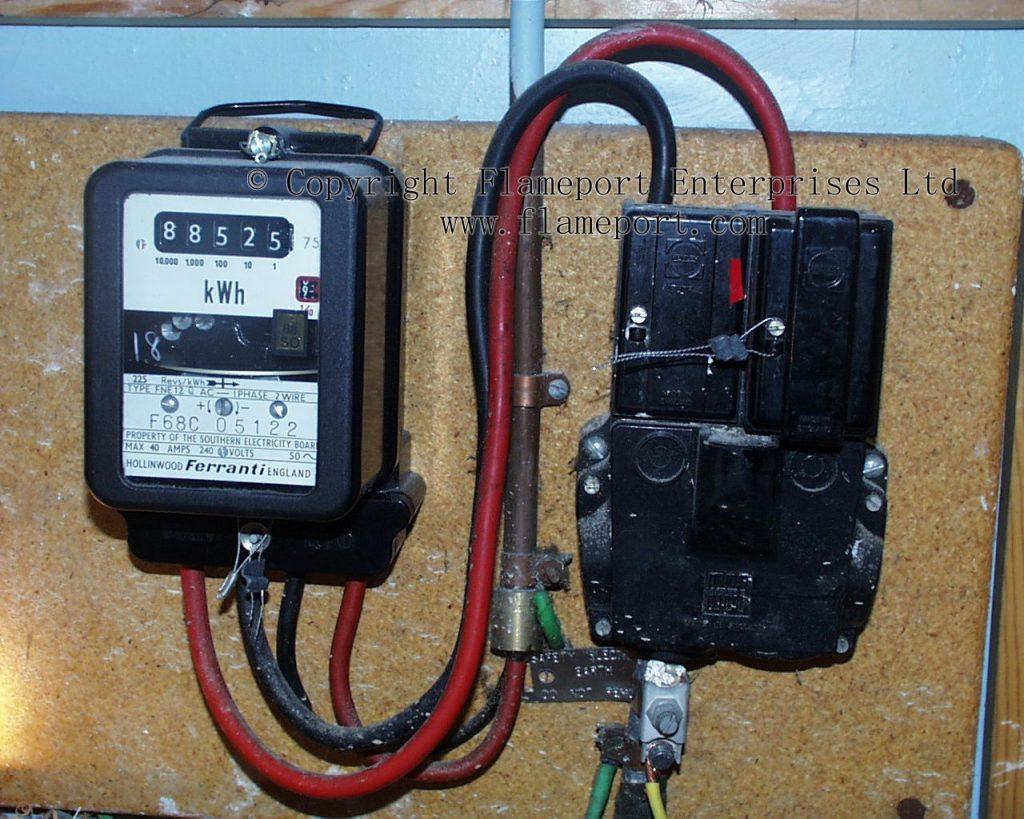 Old Ferranti Electricity Meter
