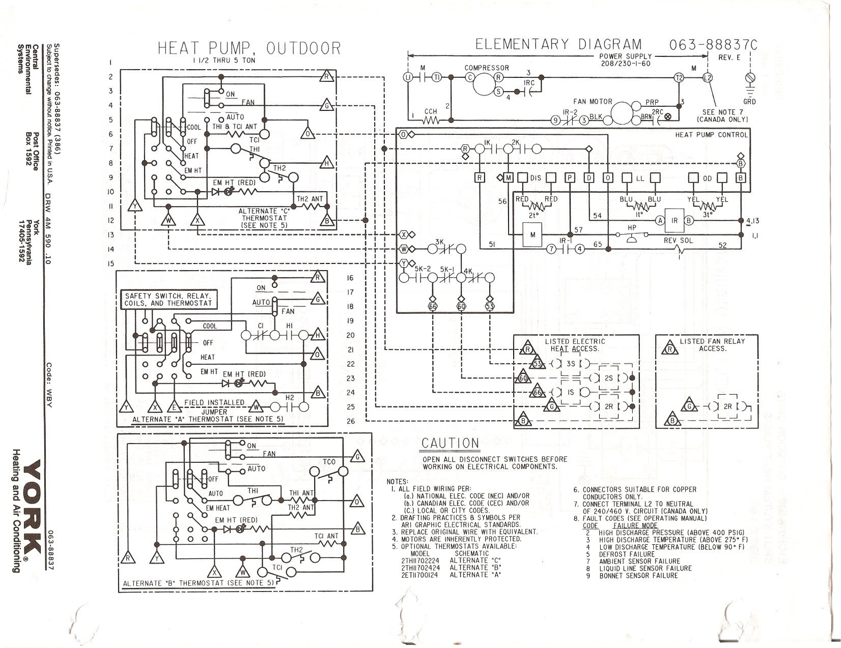 Older York Air Handler Wiring Diagram | Manual E-Books - York Air Handler Wiring Diagram