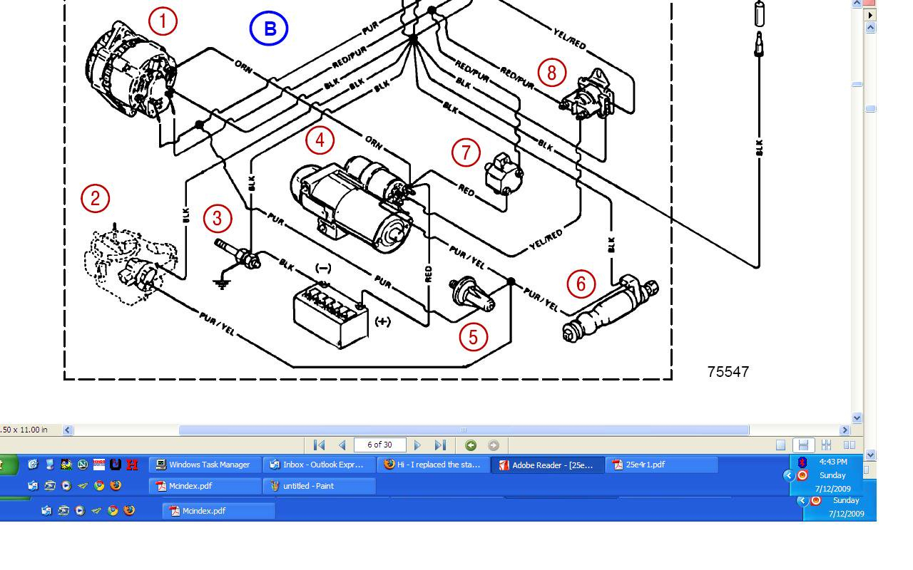 Omc 4 3 Wiring Diagram - Wiring Diagrams Hubs - Mercruiser 4.3 Wiring Diagram