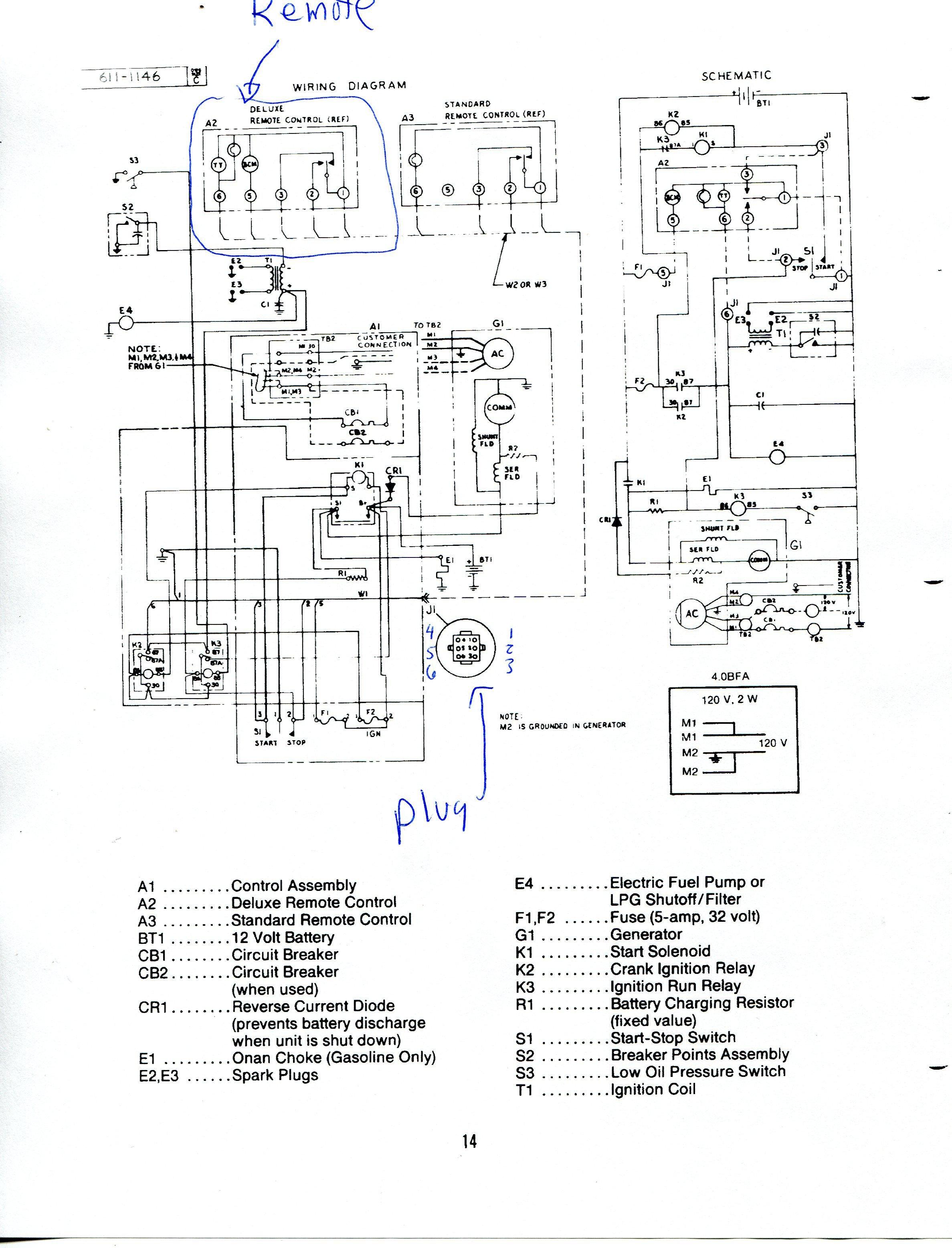 Onan 4000 Rv Generator Wiring Diagram - Wiring Diagrams Hubs - Onan 4000 Generator Wiring Diagram