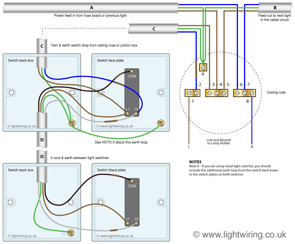 One Cable Wiring Diagram Multiple Lights | Manual E-Books - Wiring Multiple Lights And Switches On One Circuit Diagram