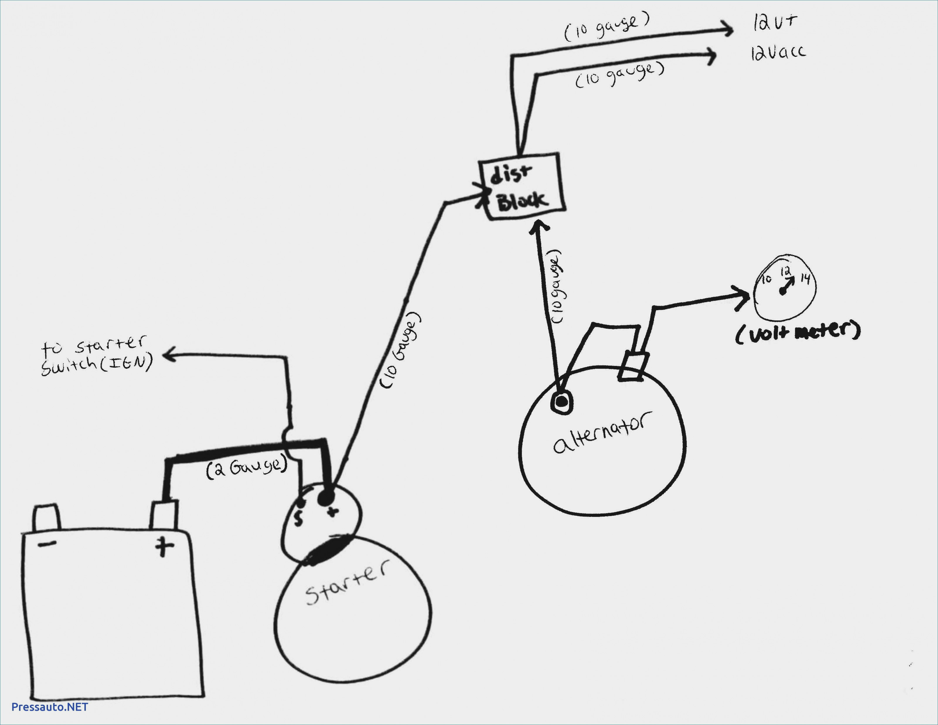 One Wire Diagram | Wiring Diagram - Gm Alternator Wiring Diagram