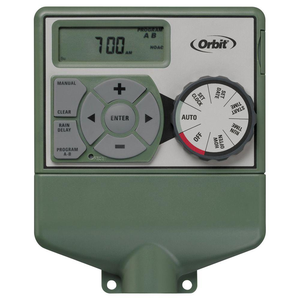 Orbit 6-Station Easy-Dial Sprinkler Timer-57876 - The Home Depot - Orbit Sprinkler Wiring Diagram