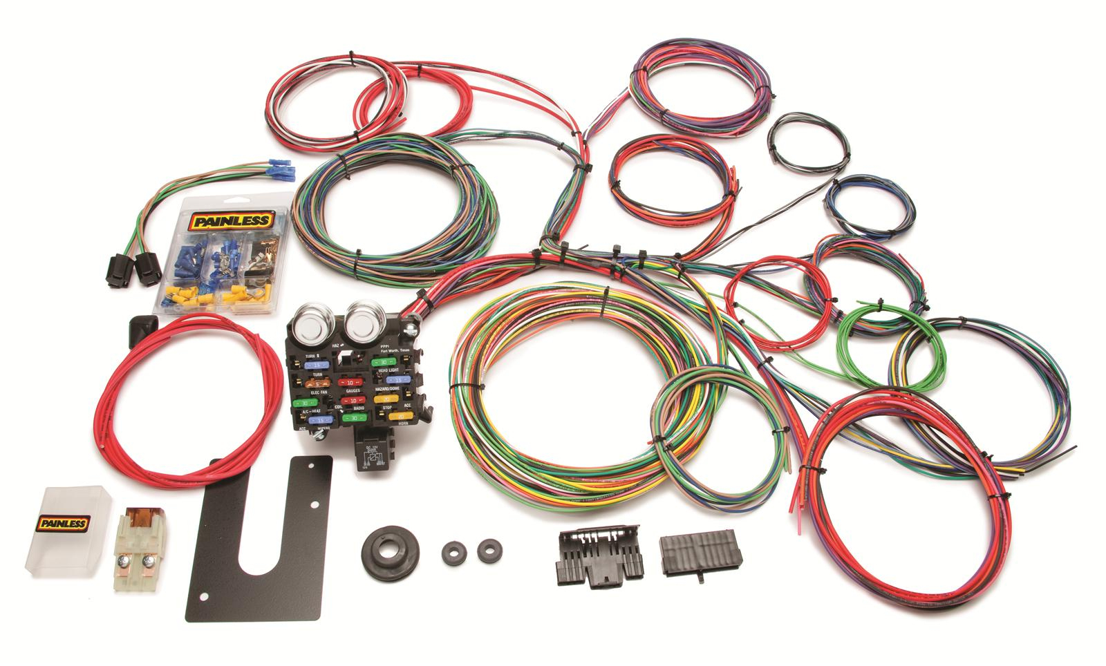 Painless Performance 21-Circuit Universal Harnesses 10102 - Free - Painless Wiring Diagram