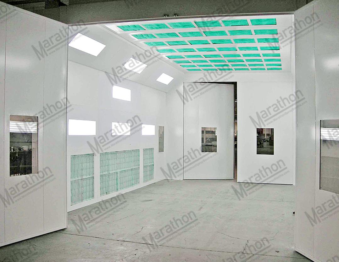 Paint Booths For Trucks & Equipment-Side Down Draft - Marathon - Single Phase Marathon Motor Wiring Diagram