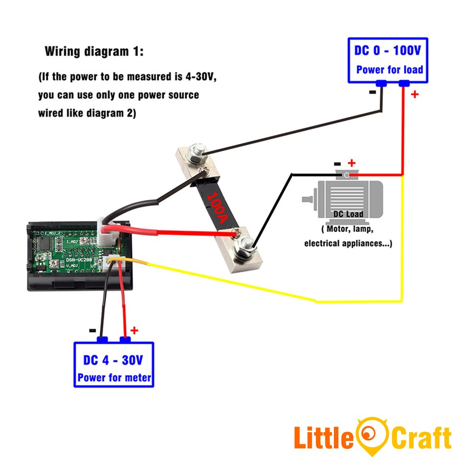 Panel Mount Digital Volt & Amp Mete (End 7/13/2020 10:32 Am) - Digital Volt Amp Meter Wiring Diagram