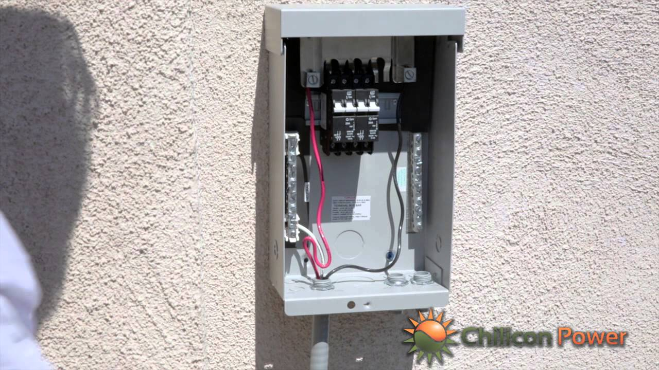Part 9: Ac Disconnect And Breaker Box - Youtube - Breaker Box Wiring Diagram