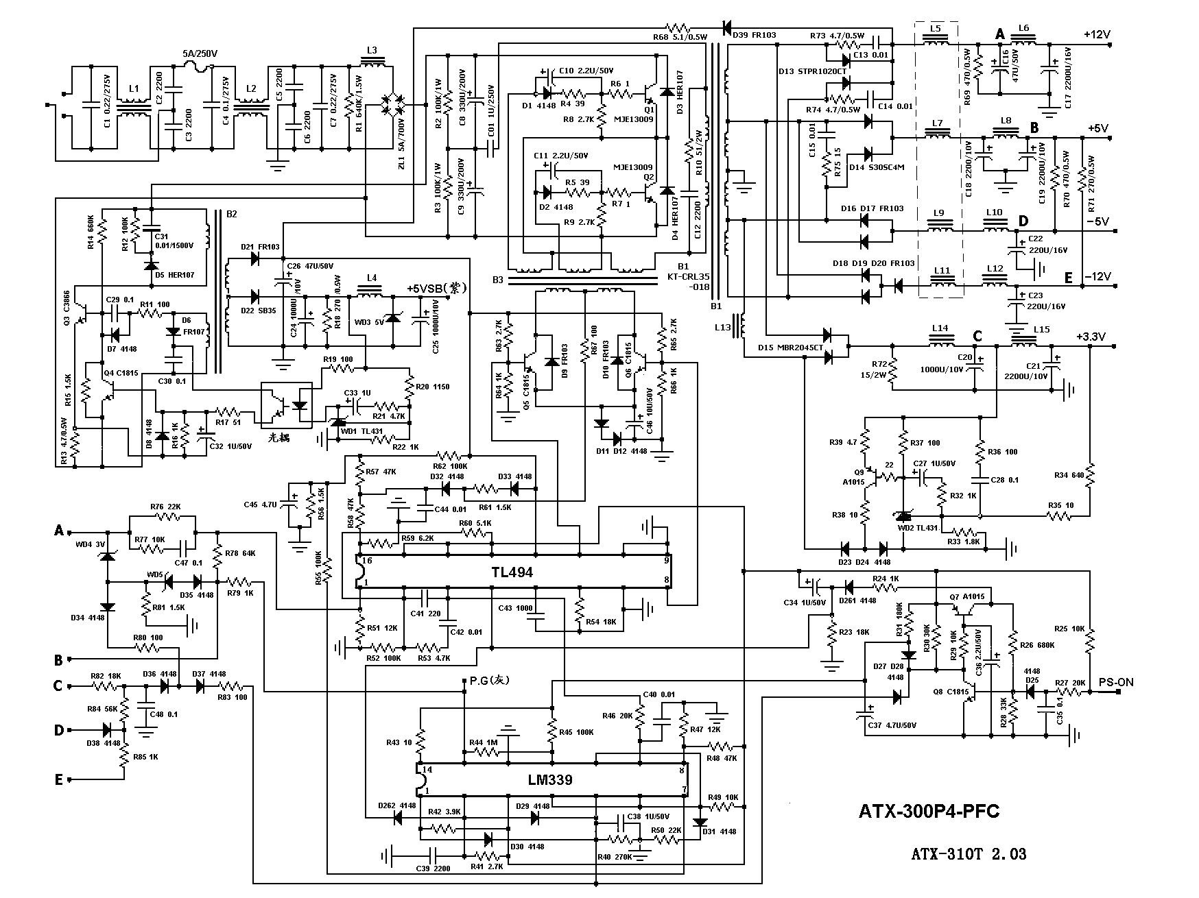 Pc Wiring Diagram | Schematic Diagram - Computer Power Supply Wiring Diagram