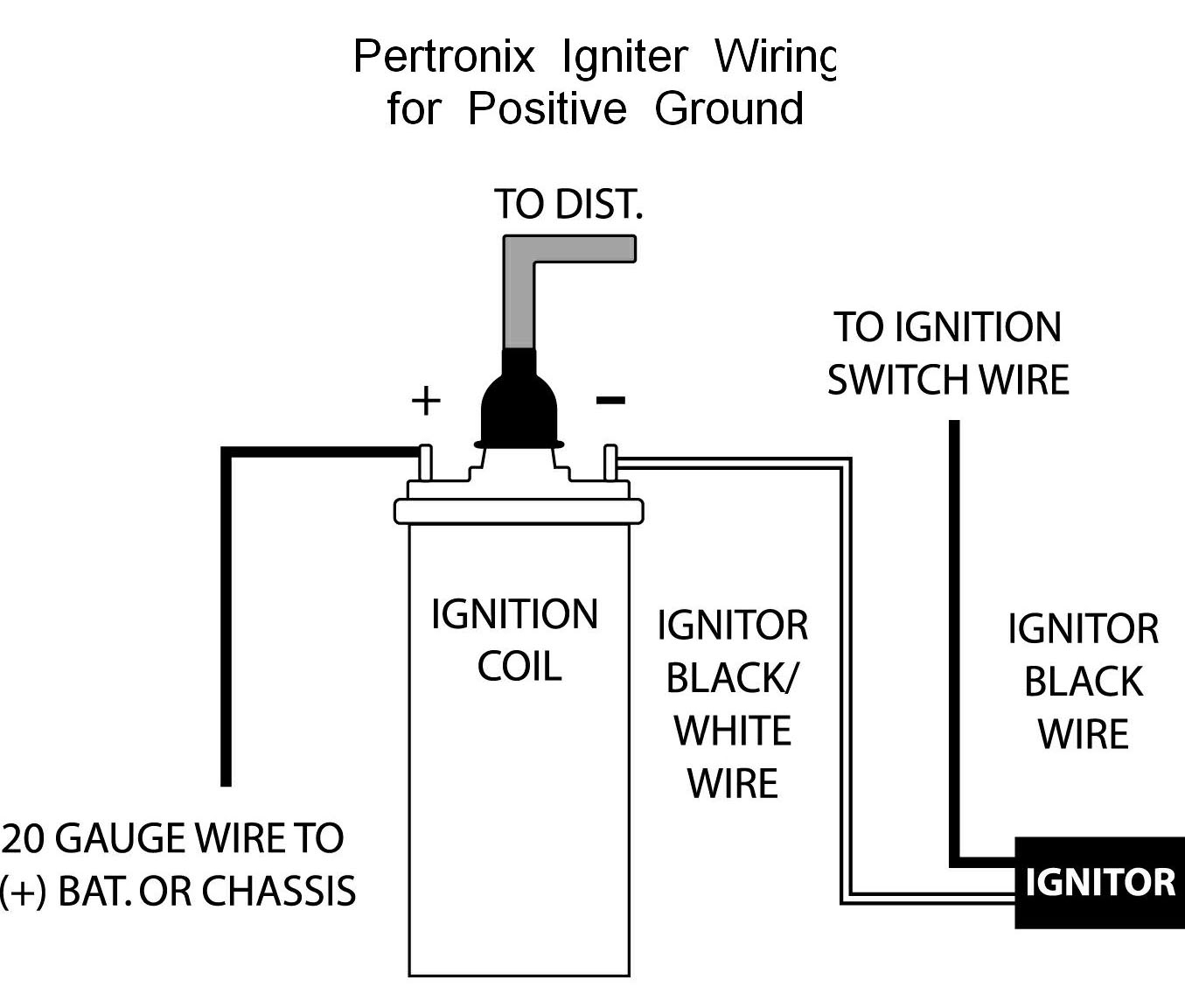 Pertronix Positive Ground Wiring At How To Wire An Ignition Coil - Coil Wiring Diagram