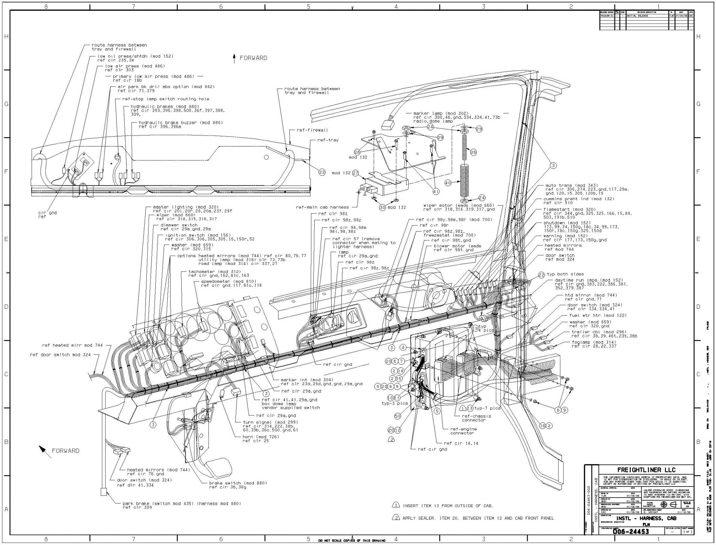 Peterbilt 320 Fuse Box Diagram - Wiring Diagram Detailed - Freightliner Headlight Wiring Diagram