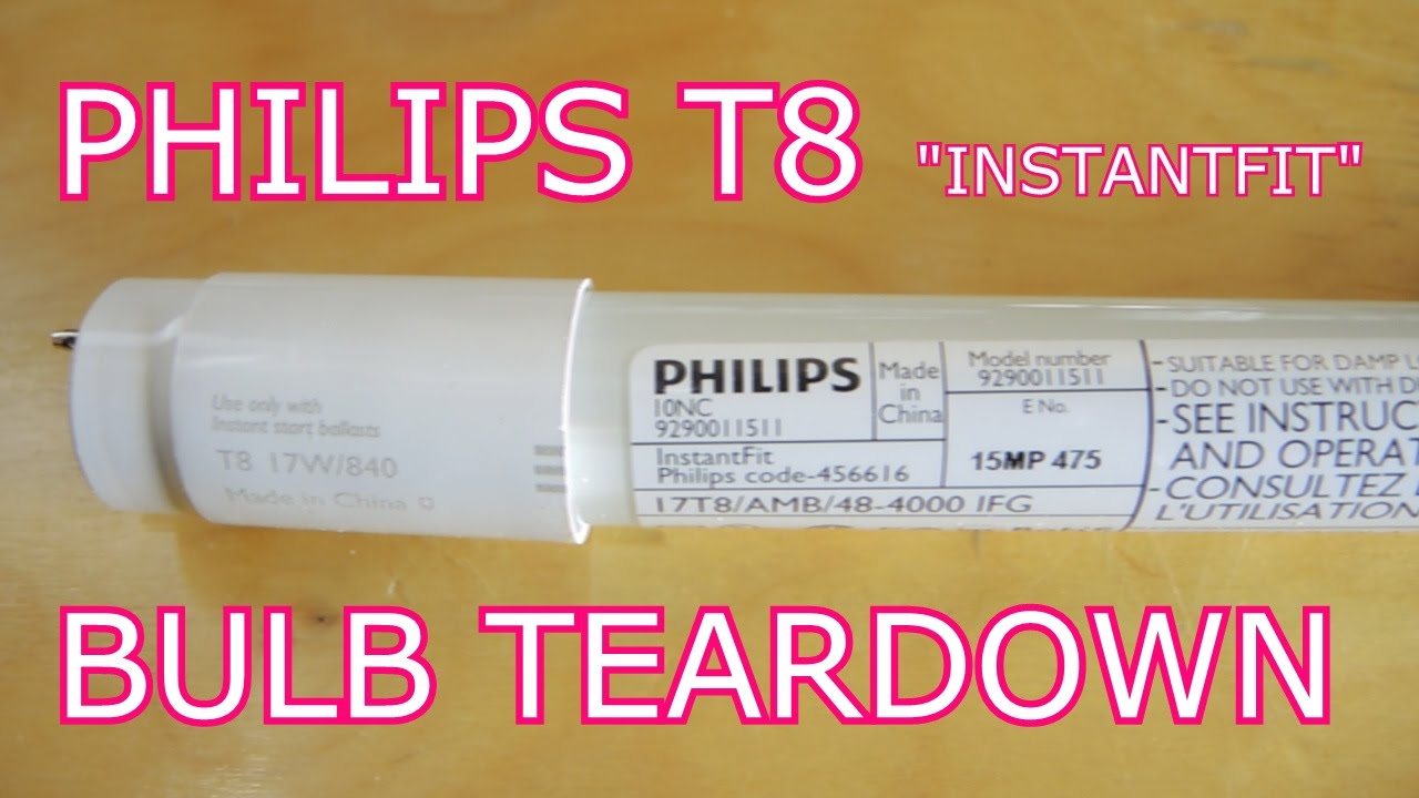Philips T8 Led Tube Tear Down: The Most Boring Teardown Yet - T8 Led Tube Wiring Diagram